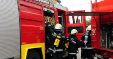 """Tetovë, zyrat e KF """"Shkëndija"""" kaplohen nga zjarri"""