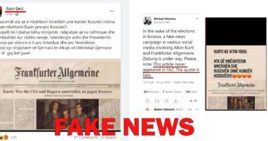 """LDK-ja përhapë lajme të rreme për Kurtin – Reagon edhe gazeta gjermane """"Frankfurter Allgemeine Zeitung"""""""