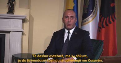 Haradinaj paralajmëron bashkimin me Shqipërinë, fajëson BE-në për mos heqjen e vizave