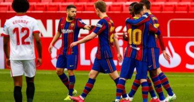 Sevilla 0-2 Barcelona, notat e lojtarëve – Messi më i miri