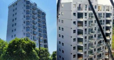 Kina habit me kompletimin e ndërtesës 10-katëshe në një ditë, video bëhet virale në rrjet (Video)