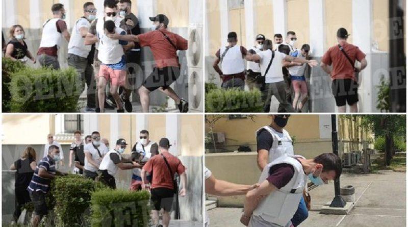 Mas.akroi për vdekje gruan/ Familjarët e Anisës i sulen me grushta fytyrës shqiptarit me antiplumb (Video)