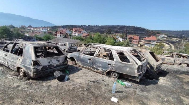 Pamje pas shuarjes së zjarrit në Koçani, dëme të mëdha materiale